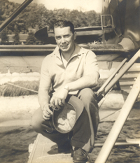 Howard Wainman with a Float Plane.